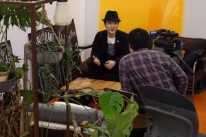 ライフハッカー[日本版]編集長・米田のインタビュー風景